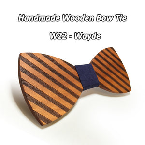 Striped Wooden Bowtie - Scotch and Rocks