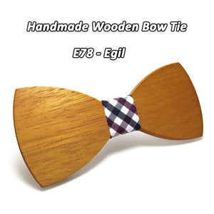 Geometric Wooden Bowtie - Scotch and Rocks