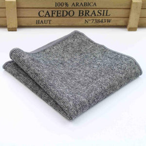 Striped Wool Pocket Squares - Scotch and Rocks