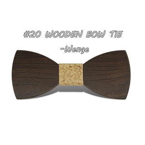 Elegant Handmade Wooden Bowtie - Scotch and Rocks