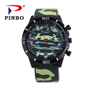 PINBO Men Watch Top Brand Luxury military sport Wristwatch Silicone Male Clock Q - Scotch and Rocks