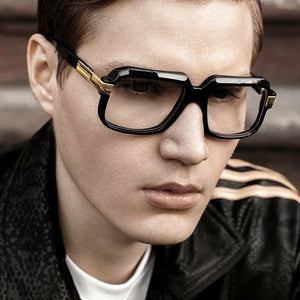 Fashion Rectangle Sunglasses Women Vintage Big Frame Sun Glasses of Men Retro Classic High Quality Glasses New Gafas - Scotch and Rocks