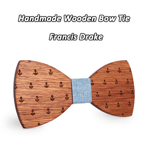 Love Nautical Stuff? Anchor Wooden Bowtie - Scotch and Rocks