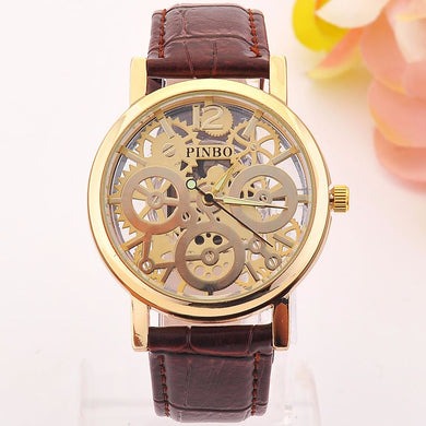 2017 New famous luxury brand fashion Hollow Watch women casual dress watches men - Scotch and Rocks