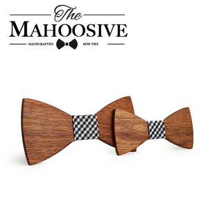 My Favorite! - Father and Son - Mahoosive Wooden Bow Ties - Scotch and Rocks