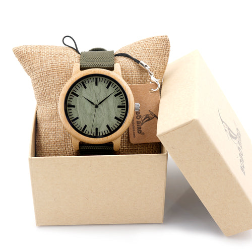 BOBO BIRD Bamboo Watches Luxury Mens Top Brand Wood Watch Handmade Japan Movemen - Scotch and Rocks