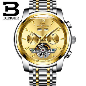 Binger Self Winding Luminous Luxury Watch - Scotch and Rocks