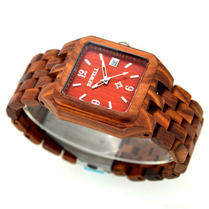 BEWELL Sandalwood Watch with a blend of classic and modern style - Scotch and Rocks