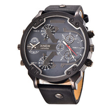 Stylish Big Face Watch with Leather Strap - Scotch and Rocks