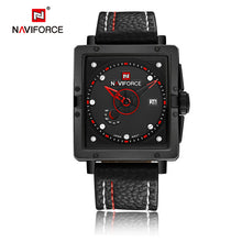 NAVIFORCE Men Sports Watches Men's Quartz Hour Date Clock Man Leather Strap Mili - Scotch and Rocks