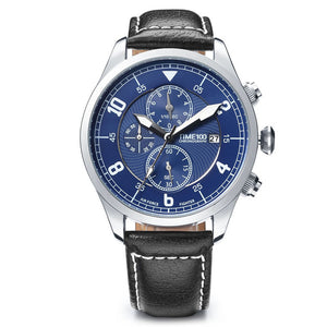 Time 100 new Fashion Watch Men Multifunction Leather Strap Auto Date - Scotch and Rocks