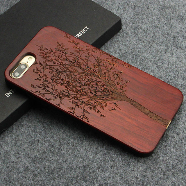 the best attitude 749b8 682ff Real Wood Phone Case - iPhone X 7 8 Plus / Samsung S8 S8 Plus
