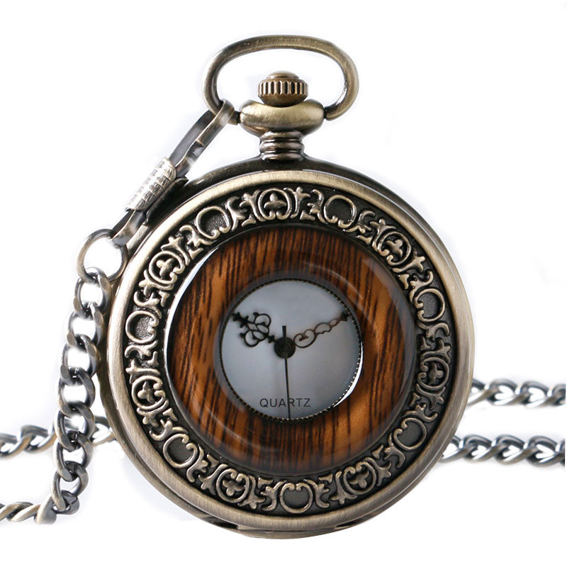 Imitation Wood Necklace for Men Women Elders Seniors Gifts Watches Vintage Retro - Scotch and Rocks