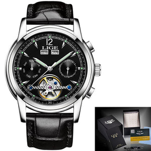 relogio masculino Mens Watches Top Brand Luxruy LIGE Automatic Watch Men Waterpr - Scotch and Rocks
