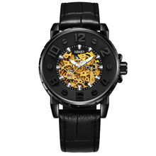 OUBAOER 3D Designer Automatic Mechanical Watch Men Top Brand Luxury Leather Lumi - Scotch and Rocks