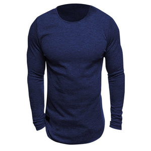 Men Long Sleeved Knitted T-shirt Bodybuilding Gyms Fitness - Round Neck Crossfit - Scotch and Rocks