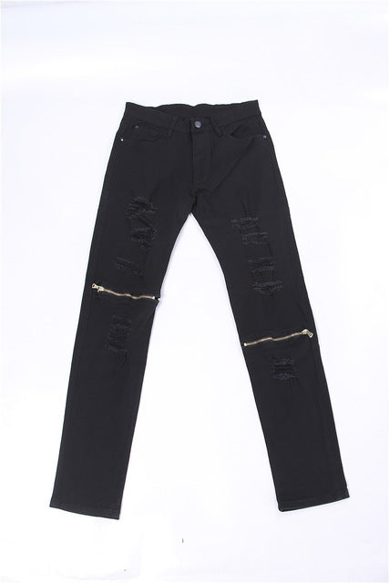 Man si Tun Kanye West Ripped Jeans For Men Skinny Distressed - Scotch and Rocks