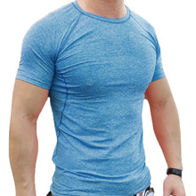 Compression Shirt Men Short Sleeve Bodybuilding Gyms Clothing Fitness Slim Fit T-Shirt - Scotch and Rocks