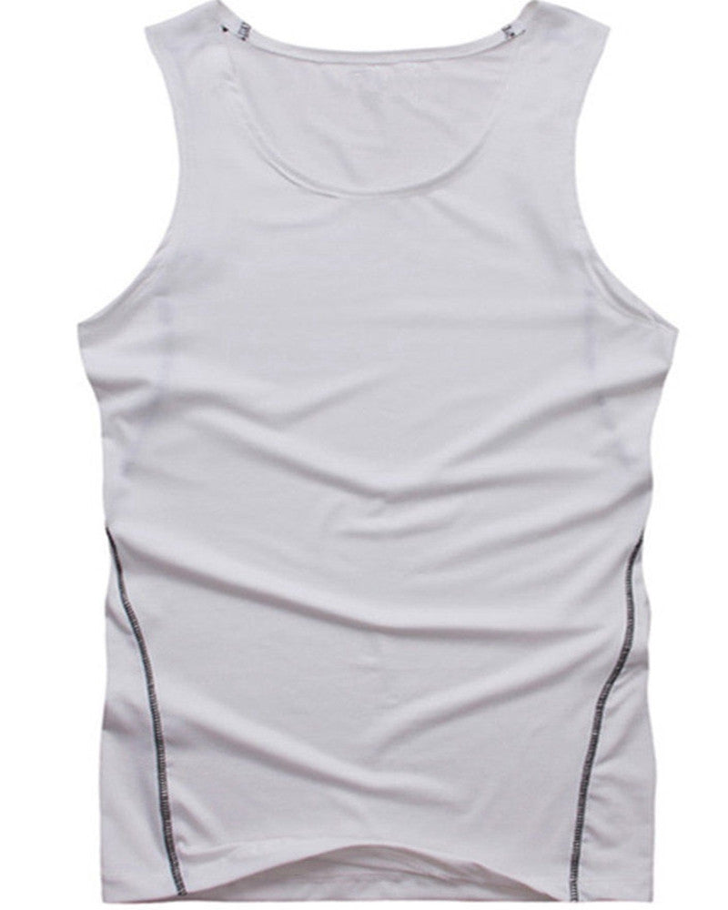 Men's Gym Sport Tank Top Tight Body Muscle Compression - Scotch and Rocks