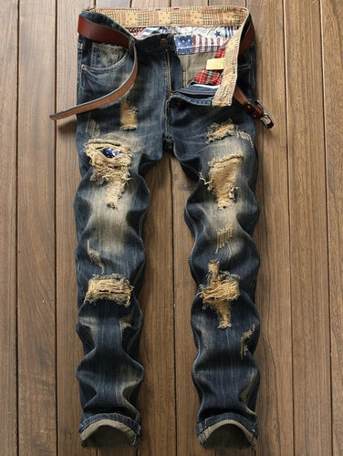 Fashion Casual Pants Men Jeans Slim - Scotch and Rocks