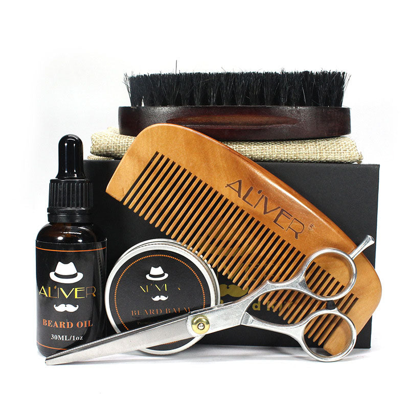 Men Beard Care Grooming Trimming Kit Unscented Beard Conditioner - Scotch and Rocks