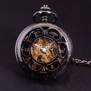 Sweet Classic Pocket Watch - Steampunk Skeleton Dial - Scotch and Rocks