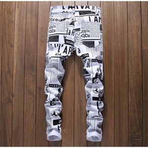 MCCKLE Pants Men Brand Designer 3d Printed Jeans - Scotch and Rocks