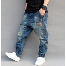 HIPHOP crotch pants men denim Jeans Baggy - Scotch and Rocks