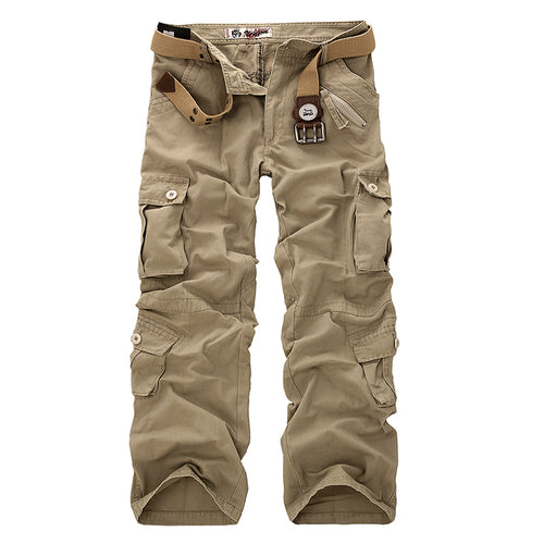 2018  new Men Cargo Pants Multi-pockets Baggy Jean - Scotch and Rocks