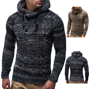Men's Autumn Winter Pullover Knitted Cardigan Coat Hooded Sweater Jacket Outwear - Scotch and Rocks
