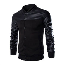 Men's Autumn Winter Casual  Long Sleeve Stand Patchwork Jacket Top Blouse - Scotch and Rocks