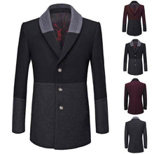 Men's Casual Trench Coat Fashion Business Long Thicken Slim Overcoat Jacket - Scotch and Rocks