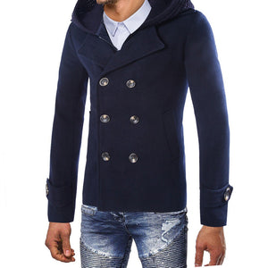 Men's Jacket Warm Winter Trench Long Outwear Button Smart Overcoat Coats - Scotch and Rocks