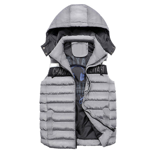Men's Winter Coat Double-sided Wear Cotton Warm Hooded Thick Vest Jacket Top - Scotch and Rocks