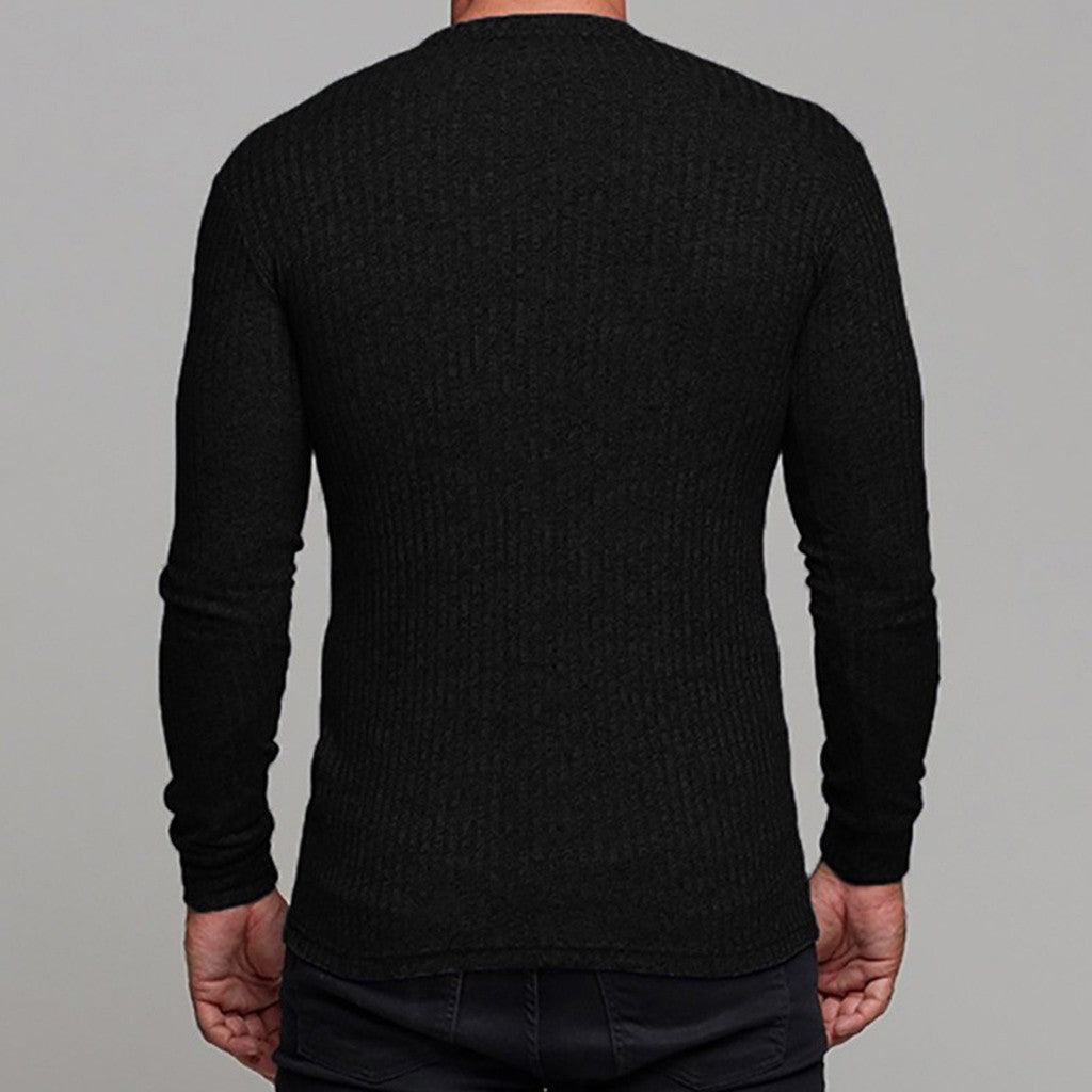 Man's Autumn Winter Casual V-Neck Men's Slim Sweaters Tops Blouse - Scotch and Rocks