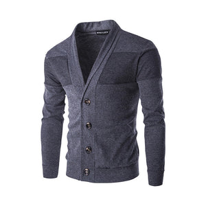 Men's Autumn Winter Warm Pullover Cardigan Button Knitted Sweater Blouse Tops - Scotch and Rocks