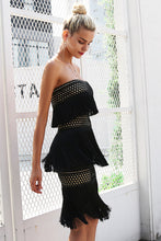 Inferno-dress-sexy-strapless-tassel-party-off the shoulder-mini-straight dress-club-above knee-summer-spring-autumn-winter