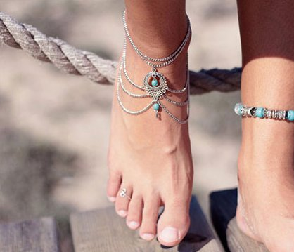 NEVER SAY NEVER ANKLET-Jewelry-Monty & Coco-Monty & Coco