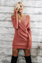 Monty & Coco-Kaylee-Sweater-Dress-Knitted-mini-oversize-pink-wool-winter