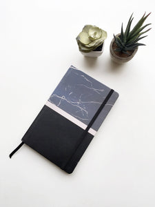 Marble Noir Multi-Purpose Journal Notebook | Hardcover | Plain