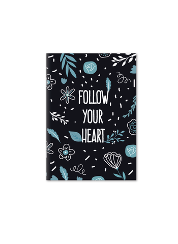 Follow Your Heart Notebook | A5 Size | Blue
