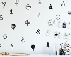 Woodland Tress Wall Decals | Different kind of Trees | 25 Pcs