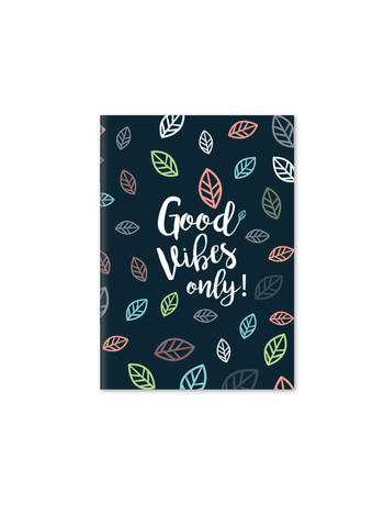 Good Vibes Only Notebook | A5 Size | Blue