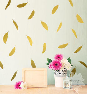 Oh Feather Wall Decals | Room Décor | 12 Pcs