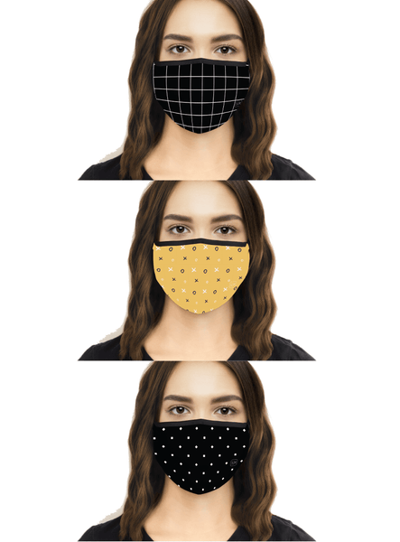 Mighty Cool Masks | Set of 3 | Washable & Reusable | Triple Layer