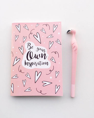 Be Your Own Inspiration Notebook | A5 Size | Pink