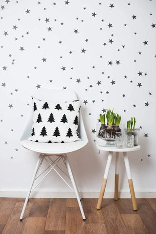 Starry Wall Decals | Geometric Room Décor | 55 Pcs
