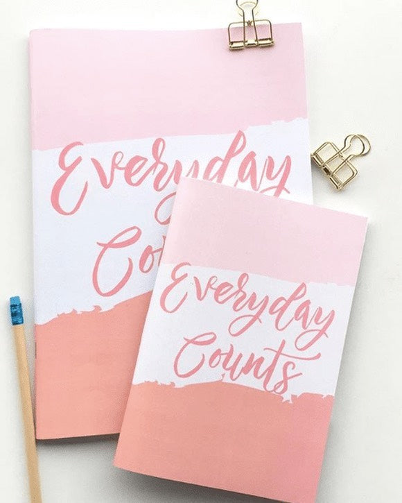 Everyday Counts A4/A5 Notebook