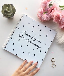 Find Joy square Spiral Notebook | 8 x 8 ""