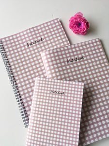 Gingham Love Notebook